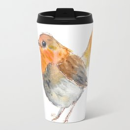 Little orange bird Travel Mug