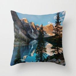 Moraine Lake Canada Throw Pillow