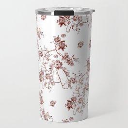 Penis Pattern RED Travel Mug