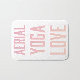 aerial yoga love // pink & orange Bath Mat