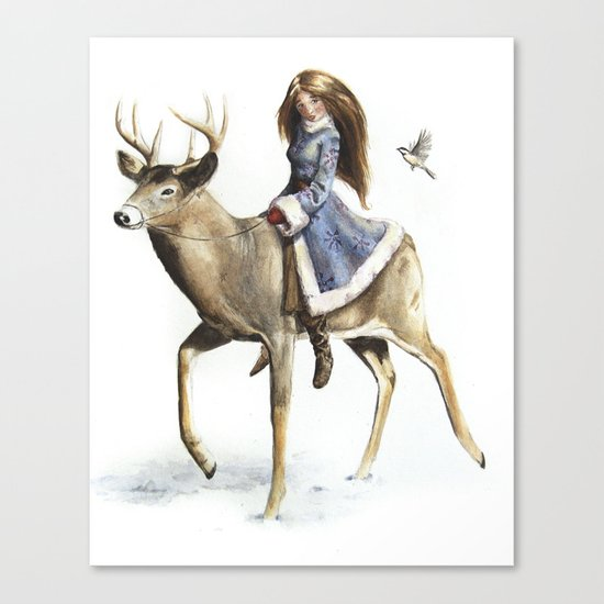 Winter Rider Canvas Print