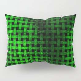 Green Abstract Weave Pattern Pillow Sham