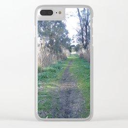 Path Through The Tall Grass Clear iPhone Case
