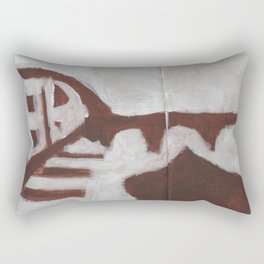 Lonely boat Rectangular Pillow