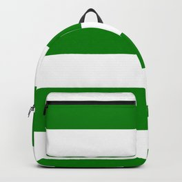 Wide Horizontal Stripes - White and Green Backpack