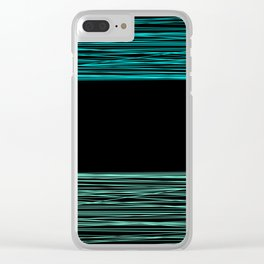 Thread , black and green Clear iPhone Case