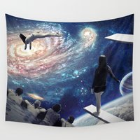 swimming Wall Tapestries featuring Swimming Pool by Cs025