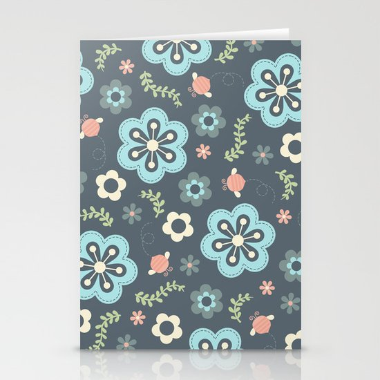 Whimsy Floral Stationery Cards