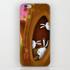 Bunny tree iPhone & iPod Skin
