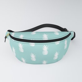 Pineapples - White on Teal Fanny Pack