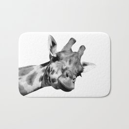 Black and white giraffe Bath Mat