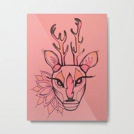 Deerhead Metal Print