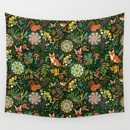 Treasures of the emerald woods Wall Tapestry