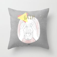 Gasp! Throw Pillow