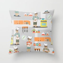 Young Chef Throw Pillow