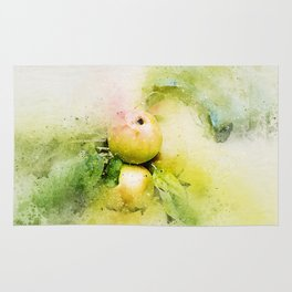 Apples watercolor Rug