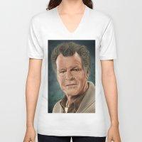 fringe V-neck T-shirts featuring Walter Bishop (Fringe) by San Fernandez