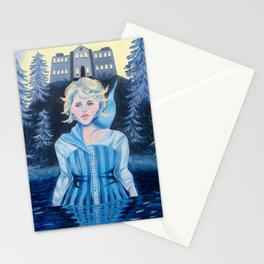 Crying Woman in Water Stationery Cards