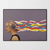 wave Canvas Prints featuring wave by Canson City