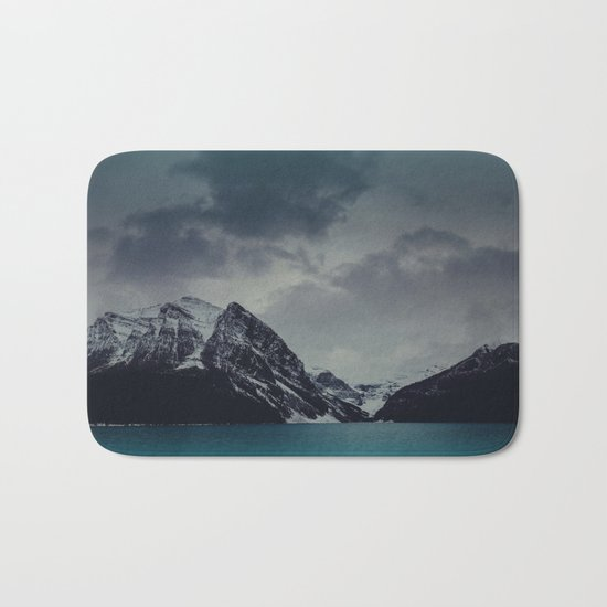 Lake Louise Winter Landscape Bath Mat