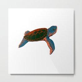 Cute turtle Metal Print