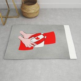 Canada Rugby Flag Rug