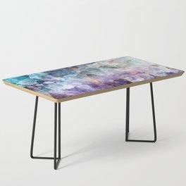 Turquoise & Purple Quartz Crystal Coffee Table