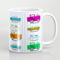 cars Mugs featuring Cars by Alapapaju