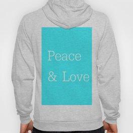 Peace & Love Aqua Hoody