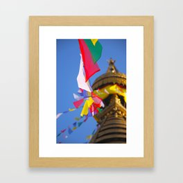 Boudhanath Prayer Flags Framed Art Print
