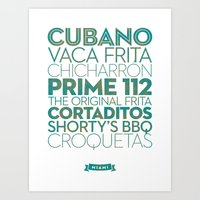 Miami — Delicious City Print Art Print