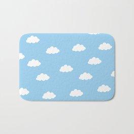White clouds in blue background Bath Mat