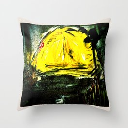 Bearly night Throw Pillow