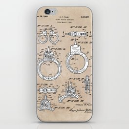 patent art Foley Secret Release Handcuffs 1966 iPhone Skin