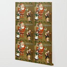 1901 Puck Magazine Christmas issue Santa children Wallpaper