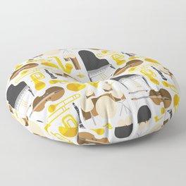 Jazz instruments Floor Pillow