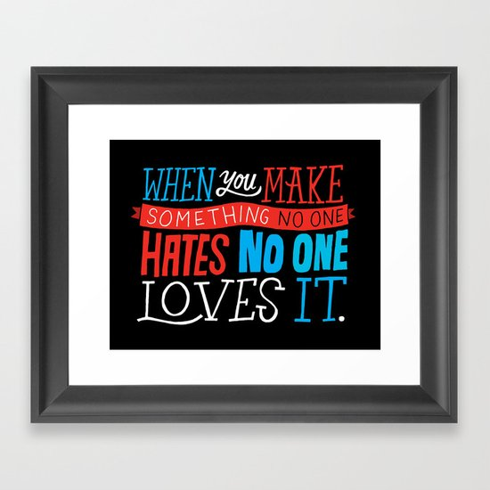 No One Loves It. Framed Art Print