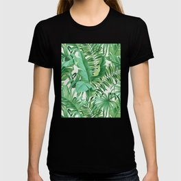 Green tropical leaves III T-shirt