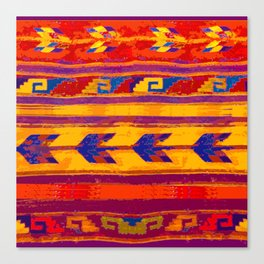 Zopotec Folk Art Canvas Print