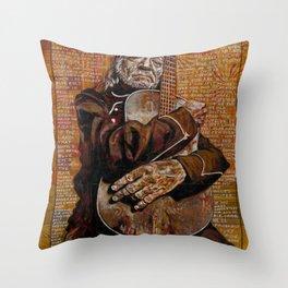 Willie's Guitar Throw Pillow