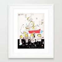 jazz Framed Art Prints featuring Jazz by Nayoun Kim