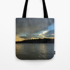 Evening with the Ganges... Tote Bag