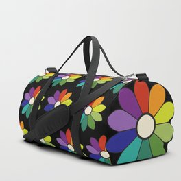 Flower pattern based on James Ward's Chromatic Circle (enhanced) Duffle Bag