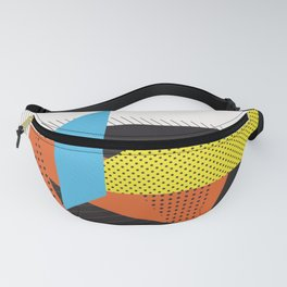 Memphis Throwback Retro 1980s 80s Trendy Hipster Bright Shapes Pattern Eighties Fanny Pack