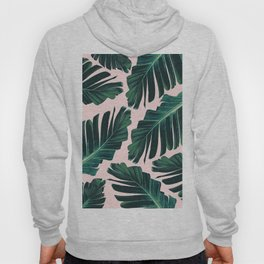 Tropical Blush Banana Leaves Dream #1 #decor #art #society6 Hoody