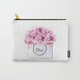 Fashion print,Wall Decor, Poster,Lips eyelashes print,Beauty print,Pink Lips Makeup Print prints mak Carry-All Pouch