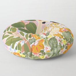 Botanical Lady Floor Pillow