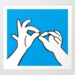 ASL Interpret Art Print