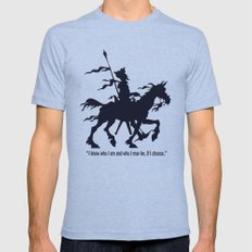 Don Quixote - Digital Work LARGE Mens Fitted Tee Tri-Blue