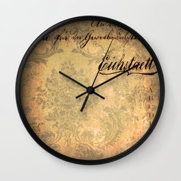 Grunge Damask II Wall Clock